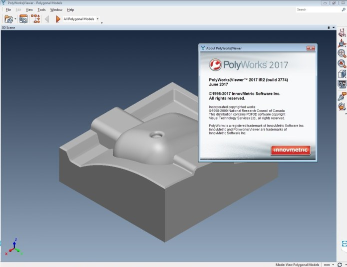 Working with InnovMetric PolyWorks 2017 IR2 full license