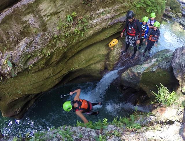 Canyoneering to Kawasan Falls