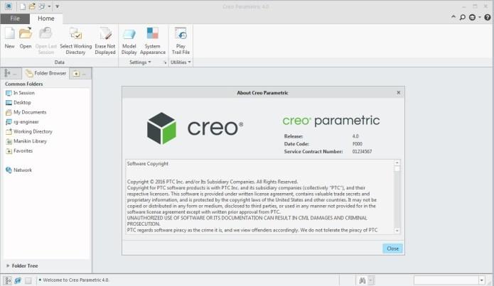PTC Creo parametric 4.0 64bit full crack 100% working
