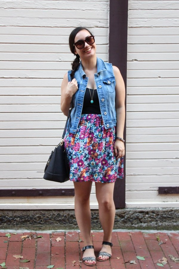 How to wear a denim vest   Shades of Sarah