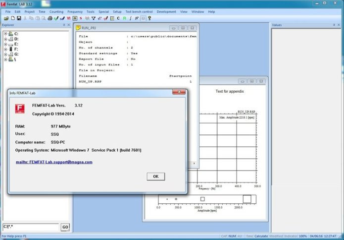 working with ECS FEMFAT-LAB 3.12 32bit
