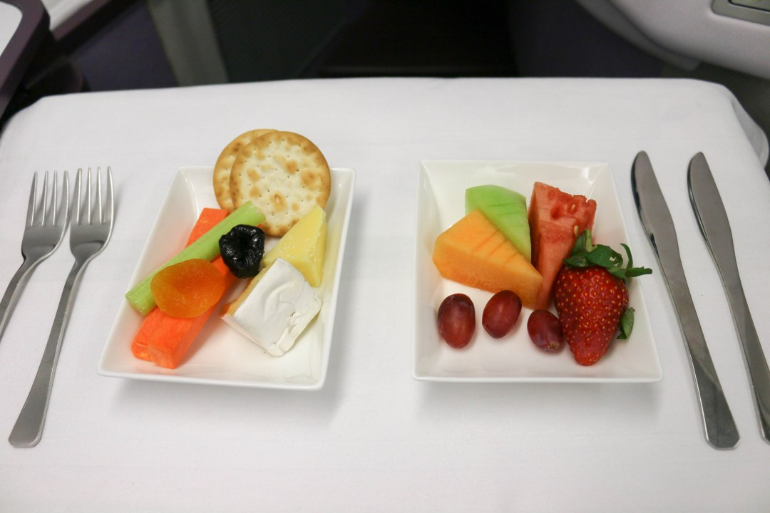Fruit and cheese plates