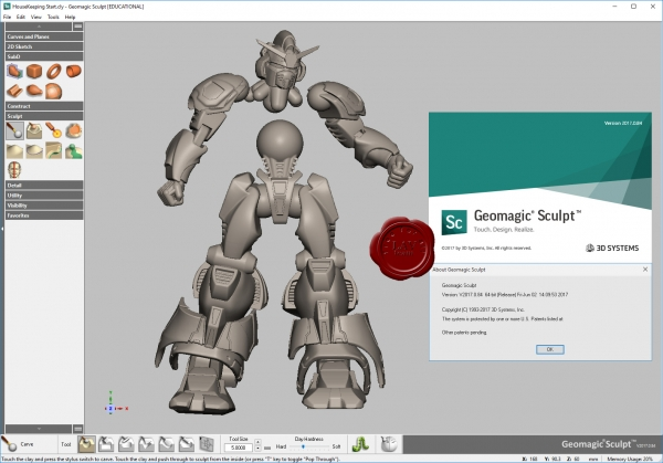 Design with 3D Systems Geomagic Sculpt 2017.0.84 full license