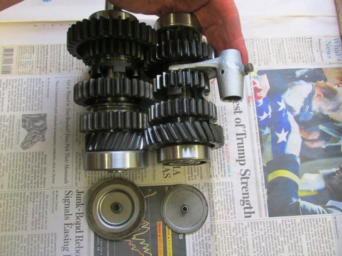 Output Shaft (Left) and Intermediate Shaft (Right) with Shift Fork