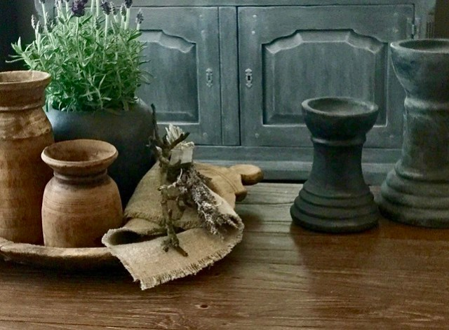 Nepalese potten olijfbak kandelaren