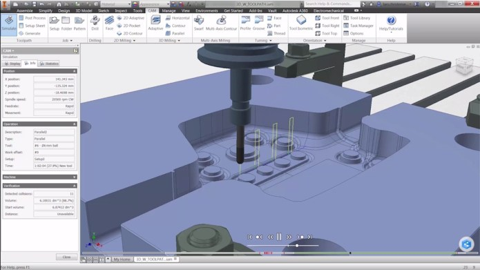 Program with Autodesk Inventor HSM 2018 Build 5.1.3.51 x64 full license