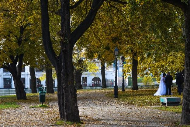Wedding Photos in Budapest City Park