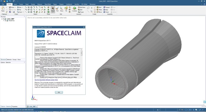 Working with ANSYS SpaceClaim 2017.1 SP1 64bit full license