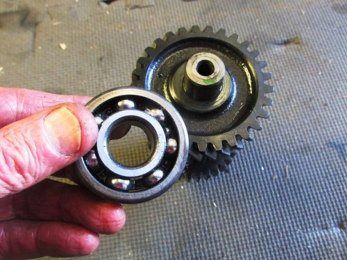 Intermediate Shaft Front Ball Bearing Removed