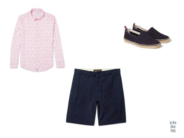 Looks de verano para hombre con shorts masculinos, alpargatas y camisa