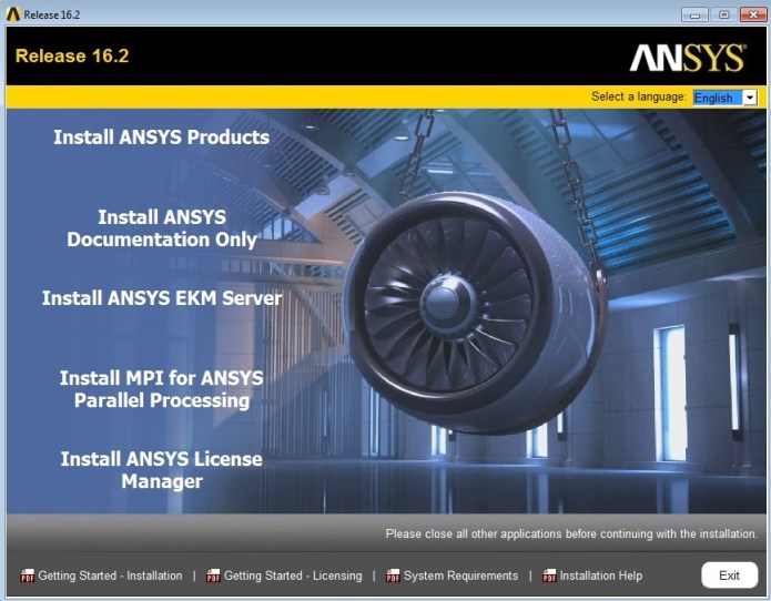 ANSYS Products 16.2 Win64
