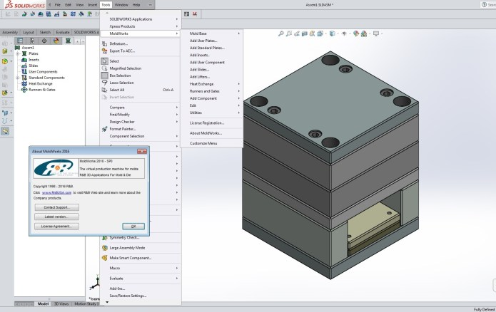working with MoldWorks 2016 SP0 for SolidWorks 2014-2017 Win64