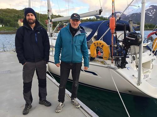 Aleksander og Rolf på kaia