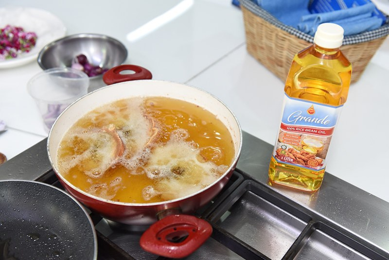 Grande rice bran oil cooking event
