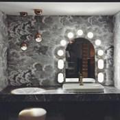 Enjoy Bathroom Experience. #aquapia #tomdixon #axor #coleandson #fornasetti #hansgrohe #kerasan #bathroom #sanitary #wallpaper