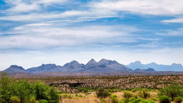 Clouds, Mountains, Desert