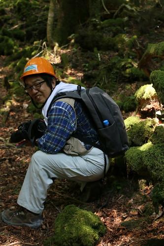 Chiba-sensei in the Aokigahara forest