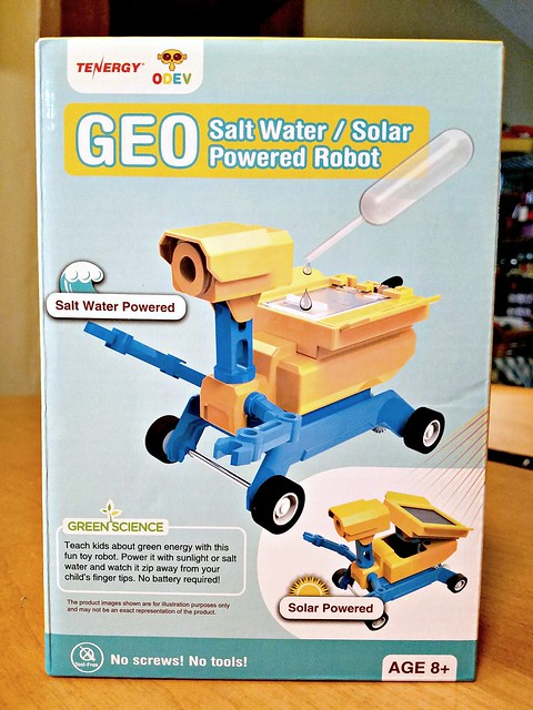 Tenergy Geo Salt Water or Solar Powered Robot