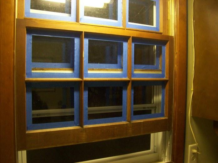 Window awaiting painting