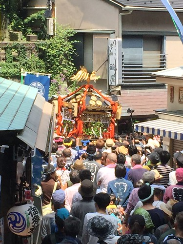 Portable shrine borne through the streets of Enoshima
