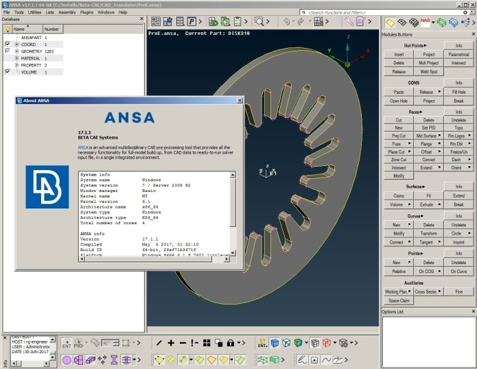 Working with BETA CAE ANSA 2017.1.1 full crack