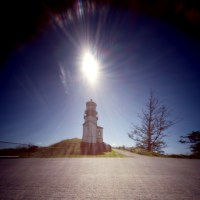 Cape Disappointment Lighthouse, two pinhole views