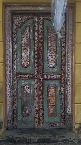 Ornate Door in Galle Fort Sri Lanka