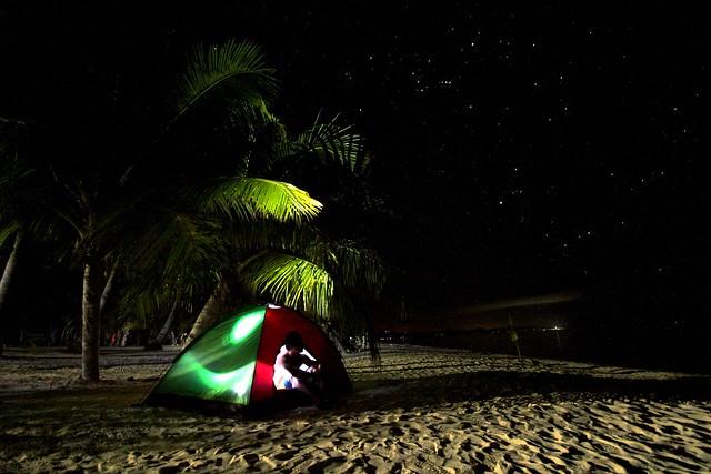 Camping at Kalanggaman Islet