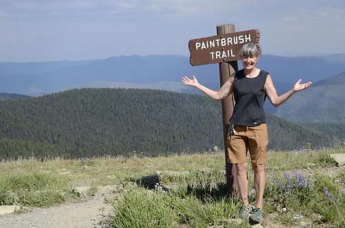 Linda at the Paintbrush Trail