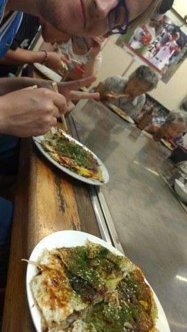 Okonomiyaki in Okonimimura