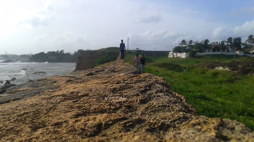 Along the Sea Wall at Galle Fort