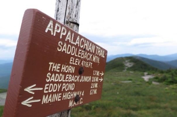 Saddleback Summit Sign