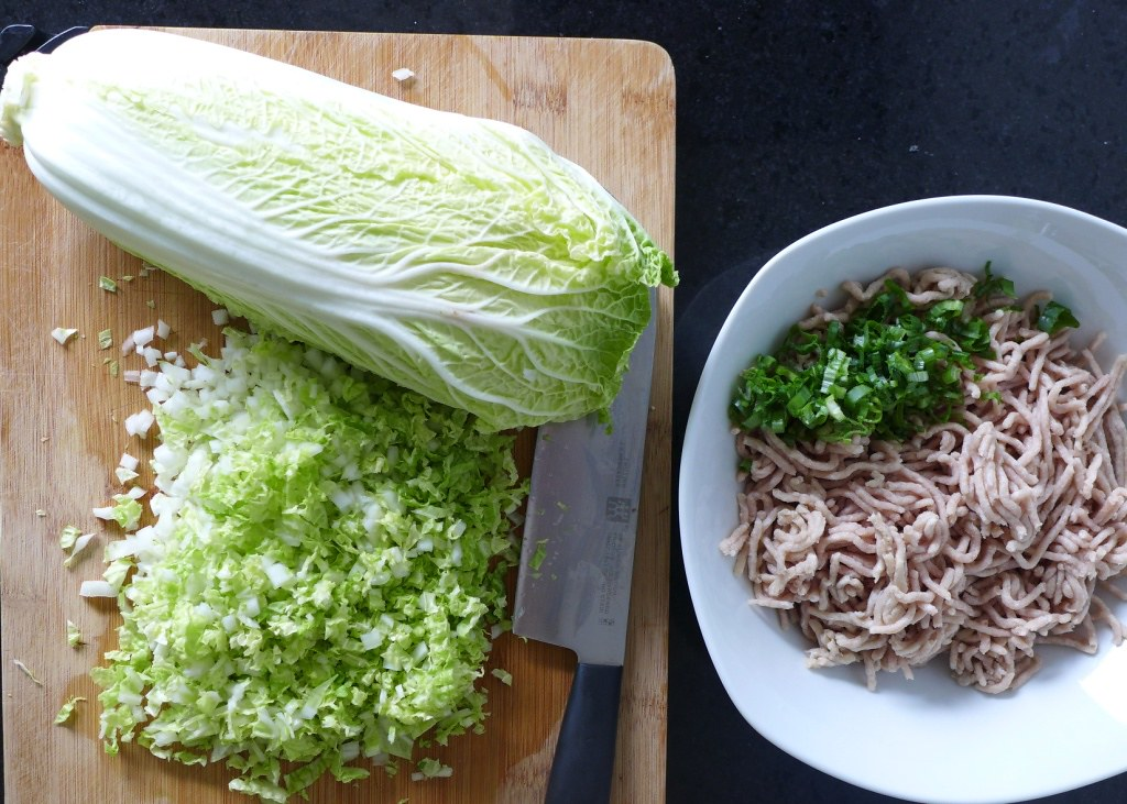 minced chinese cabbage and pork