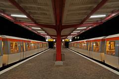 Zugkreuzung in Ahrensburg West