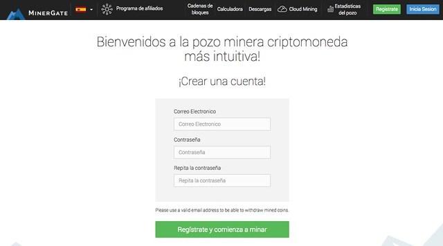 Registro MinerGate
