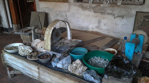 Raw materials at a Jewelers in Galle Fort Sri Lanka