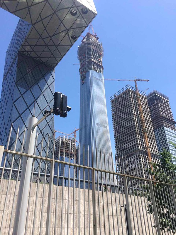 Beijing S Tallest Building Is About To Top Out The Tower