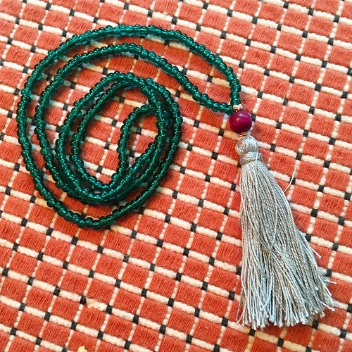 Making a tassel necklace