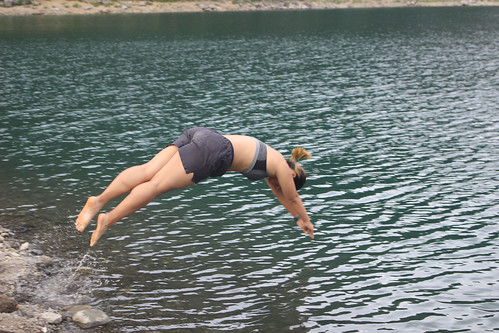 Diving into Lake Sai