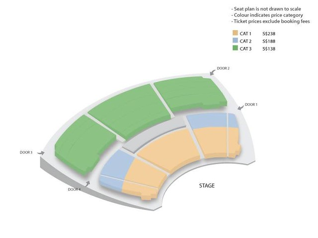 Kim Myung Soo in Singapore Seating Plan