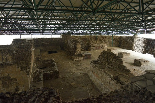 Covered Ruins of Red Room at Templo Mayor