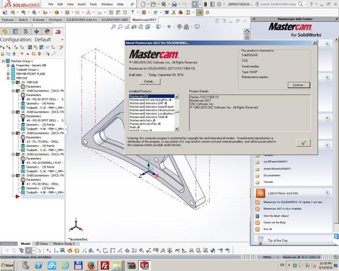 Lập trình gia công CNC với mastercam 2017 for solidworks 2010 - 2016