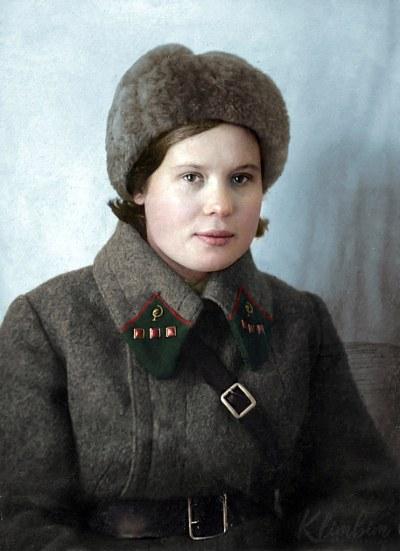 Sokolova P.I. medical attendant of the 2nd Moscow Rifle Division | Соколова П.И. - военфельдшер 2-ой Московской стрелковой дивизии