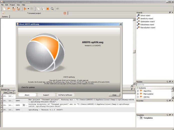 Working with ANSYS optiSLang 6.1.0.43247 full license