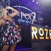 Vocalist Rozes from the Chainsmokers hit song Roses performed live at The Pool After Dark at Harrah's Resort.  DJ Toro from 92.3 AMP Radio in NYC along with Jae T and Uro provided the beats.