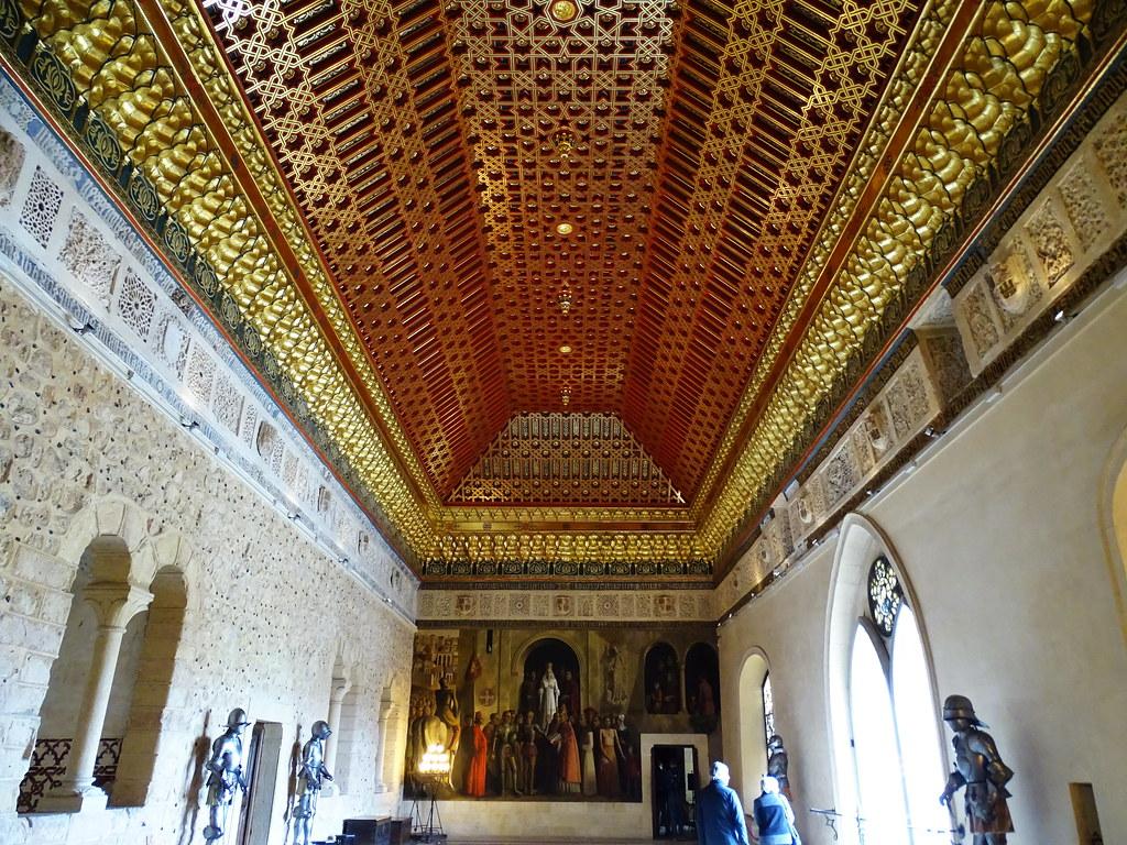 Sala de la Galera techo artesonado Alcazar de Segovia 13
