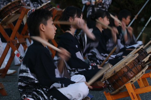 Taiko players at a festival in Hakone
