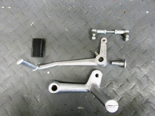 Shift Lever Parts and Left Front Foot Peg