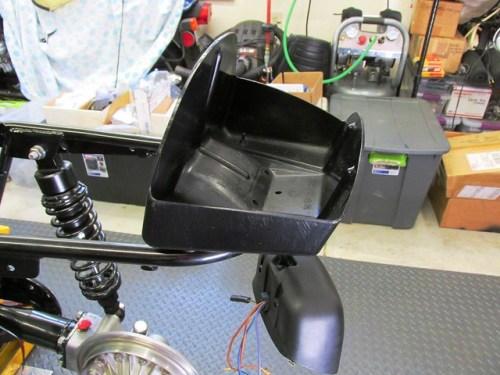 Rear Tool Box Mounts with Rear Fender Bracket Bolts on Rear Sub-frame