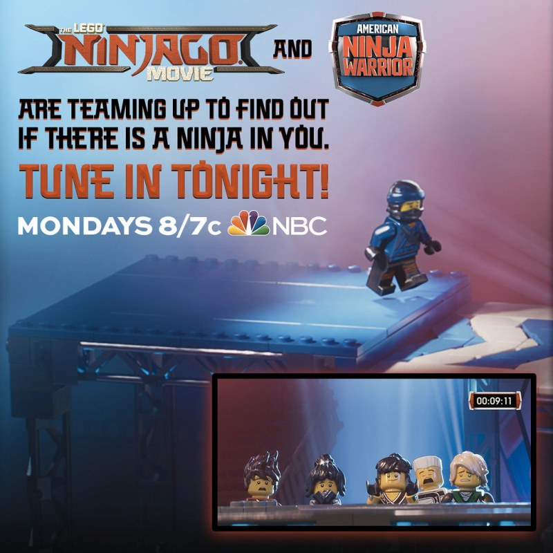 Ninjago Movie coming to American Ninja Warrior